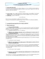 COMPTE RENDU CM DU 18 OCTOBRE 2019